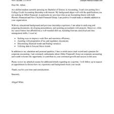 sample cover letter for accounting internship resume cover letter gallery cover letter ideas