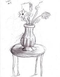 Vase Drawing Flower Vase Sketch By Tisserovehicks On Deviantart