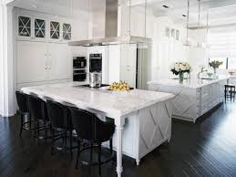 White Kitchen Laminate Flooring White Kitchen With Gray Island Beige Moroccan Bar Stool Chair