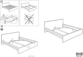 Ikea Malm Bed Frame Instructions Malm Bed Frame High Queen Ikea Instructions 0243790 Pe3830 Msexta