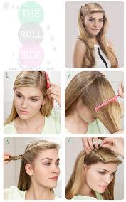 rolling hair styles simple roll side hairstyle tutorial by bmodish com hair porn