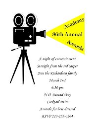 Invitation Card For Reunion Party Academy Awards Party Invitations And Oscar Invitations New