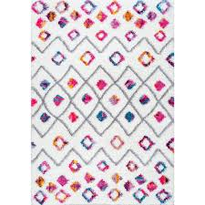 nuloom tatyana moroccan diamond trellis shaggy pink 7 ft 10 in x