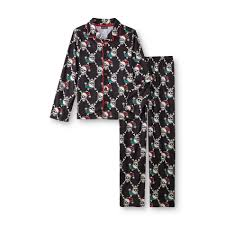 joe boxer boy u0027s pajama shirt u0026 pants christmas skulls