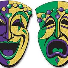 mardi gras paper a pair of paper comedy and tragedy mardi gras faces mardi gras