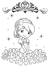 strawberry shortcake printables coloring page