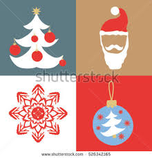 Christmas And New Year Christmas Decorations Snowflakes Vector by Set Christmas Decoration Bell Gift Snowflake Stock Vector