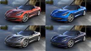 four paint colors discontinued for the 2016 corvette corvette