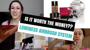 luminess airbrush makeup system is it worth the money youtube
