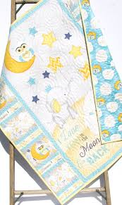Moon And Stars Crib Bedding Baby Quilt I Love You To The Moon And Back Boy Or Crib