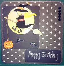 halloween birthday cards deb u0027s handmade cards