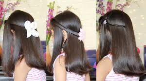 3 simple u0026 cute hairstyles youtube