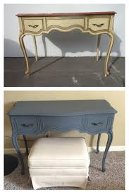 drexel french provincial vanity upcycled by brass hippo in blue