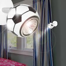 spot chambre enfant football projecteur mural ø80mm enfant blanc le luminaire spot