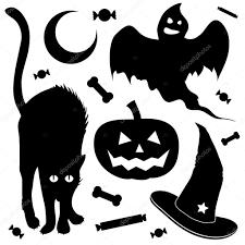 halloween silhouette vector halloween items vector silhouettes u2014 stock vector lhfgraphics