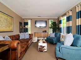 Living Room Decor With Brown Leather Sofa Living Room Terrific Masculine Living Room Interior Decor Using