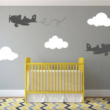 Best Wall Decals For Nursery Awesome Airplane Nursery Wall Decor Contemporary Wall Design