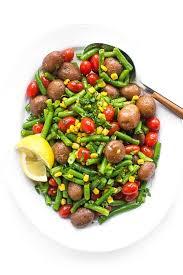 2 thanksgiving salad warm green bean and potato salad with