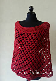 Crochet Patterns For Home Decor Scarlett Spiral Crochet Poncho Allfreecrochet Com