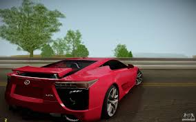 lfa lexus red lexus lfa for gta san andreas