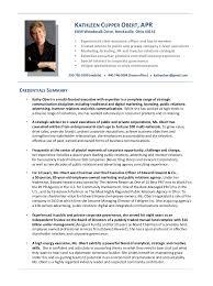 Resume For Board Of Directors Kathy Obert Cv