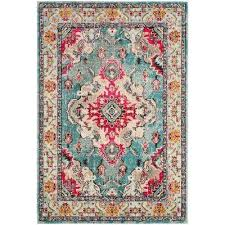 Synthetic Area Rugs Teal Safavieh Synthetic Area Rugs Rugs The Home Depot