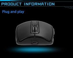 banruo cm 850g wireless quiet mouse 1600dpi ergonomic design