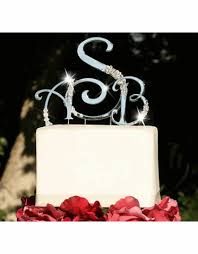 monogram wedding cake toppers advantagebridal
