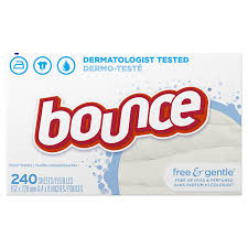 amazon com bounce fabric softener sheets free u0026 gentle 240