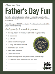 father u0027s day fun printable