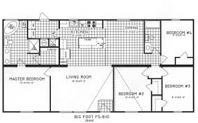 4 bedroom open floor plans 4 bedroom floor plan c 8110 hawks homes manufactured