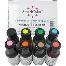 americolor amerimist air brush food color 8 pk kit created by