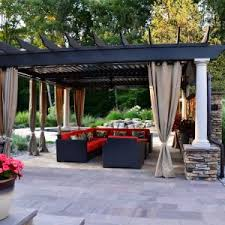 Pergola Mosquito Curtains Home Design Extraordinary Pergola Canopy For Modern Outdoor