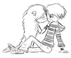 two cute kids kissing or i dont even know by gochure on