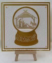 tinyrose u0027s craft room snowglobe shaker christmas cards