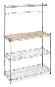 Metal And Wood Bakers Rack Whitmor 6054 268 Supreme Bakers Rack Chrome And Wood Storage