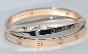 double bangle bracelet images Designer cartier 18k white gold love bangle bracelet diamonds jpg