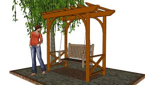 swing pergola home design free standing pergola plans backyard courts home