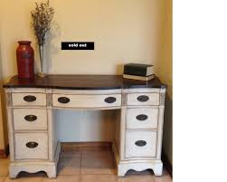 soldantique solid wood desk vanity refinished vintage