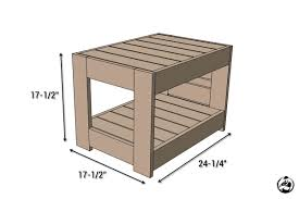 Plans For A Simple End Table by Belvedere Outdoor End Table Plans Restoration Hardware Knock Off
