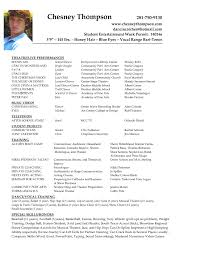 musical theatre resume exles musical theatre resumes cosy musical resume sle for