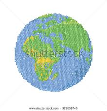 globe earth maps globe pixel pixel map world earth stock vector 373056745