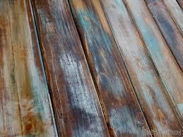 make new wood look like distressed barn boards