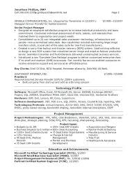 sample resume project manager old version project manager resume
