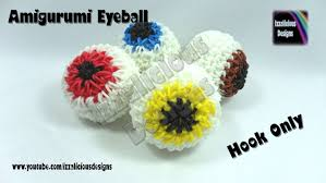halloween charm bracelets loomigurumi 3d eye ball charm halloween crochet ball w rainbow
