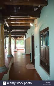 Kerala Home Design Veranda Part Of Airy Verandah Encircling Keralite Bungalow Styled After