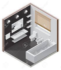 Bathtub Cutaway Isometric Bathroom Icon Royalty Free Cliparts Vectors And Stock