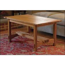 arts and crafts coffee table plan woodworking plans