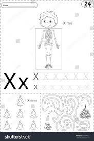 santa writing paper cartoon xrays skeleton xmas tree santa stock vector 370094423 cartoon x rays skeleton and xmas tree with santa alphabet tracing worksheet writing