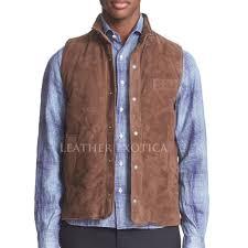 leather vest suede leather men vest